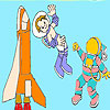 Cute Astronauts Coloring