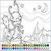 Moonlight Monster Coloring