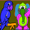 Parrot And Friend Coloring Game