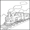 Train Coloring Book